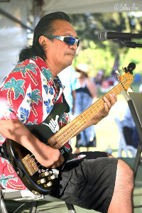 Slack key guitar festival performer